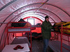 Inside a sleeping tent<br /> <br /> Photo: Heather Andres