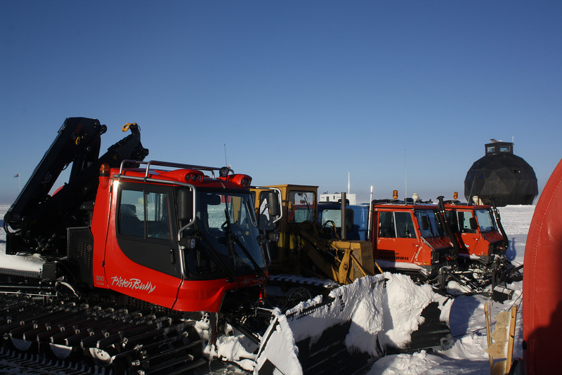 All the heavy machinery for removing snow and preparing the runway<br /> <br /> Photo: Casper Christensen