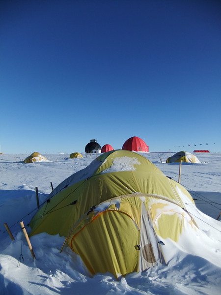 One of the private cabins. This is an option if you are on the ice for a long time, but these type of tents are not heated<br /> <br /> Photo: Christopher Stowasser