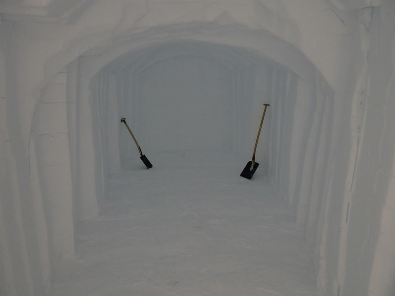 Extra room for keeping ice boxes is cut<br /> <br /> Photo: Sepp Kipftstuhl