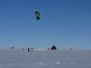 Kite skiing close to camp<br /> <br /> Photo: Liz Thomas
