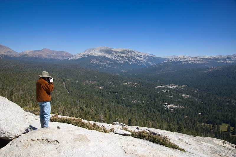 Photographing east of Tuolomne Meadows