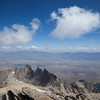 Clouds flying by the Owens Valley