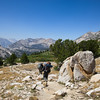 Crossing a meadow below Kearsarge Pass