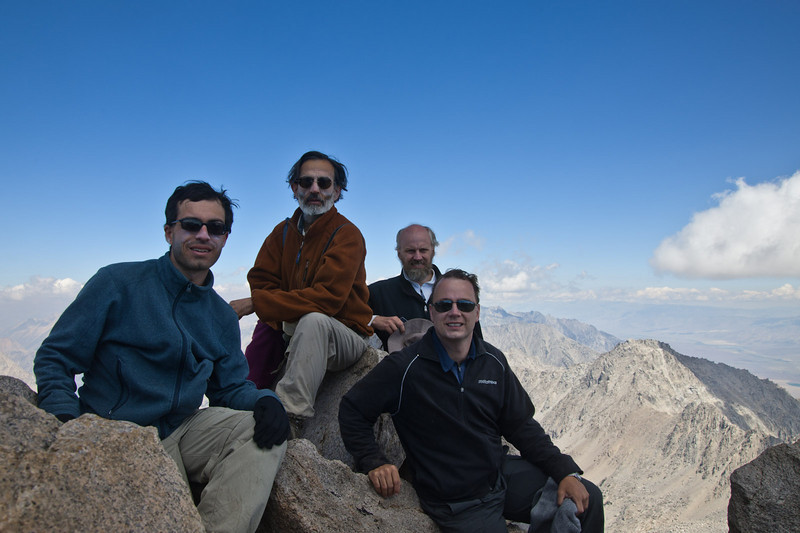On the summit of Mt. Keith