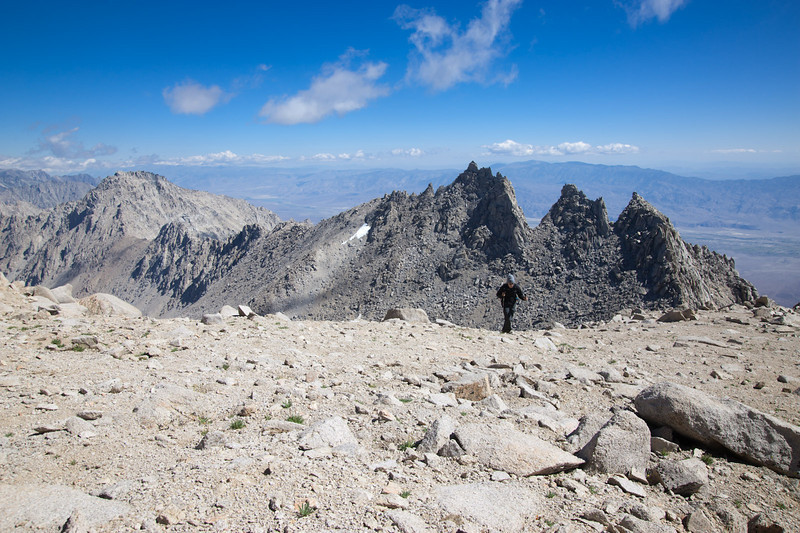 Reaching the ridge, looking east over the Owens Valley