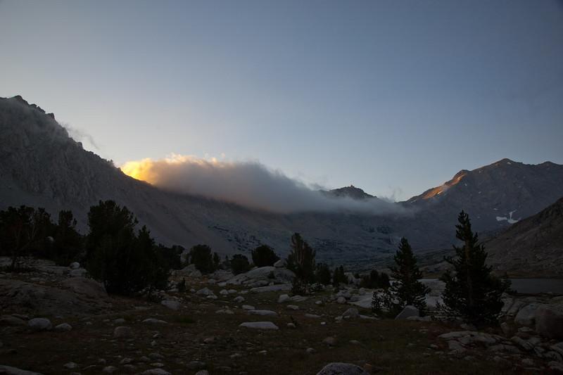 Glimmers of sun near Mt. Bradley