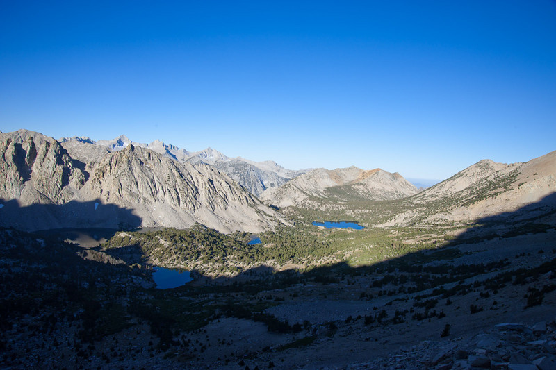 Looking west from Kearsarge Pass