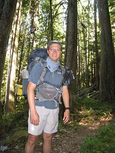 John on the trail.