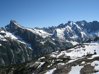 Northern Pickets - Luna Peak on left with Fury to the right