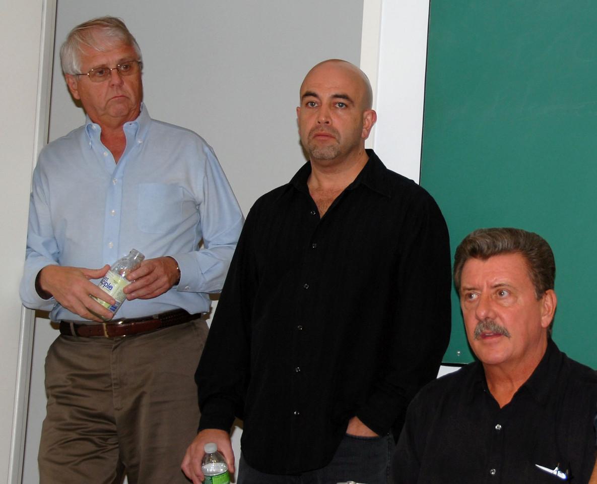 Secretary Jim Trainor,  Business Agent Tony Fiumano and Vice President Joe Manley.
