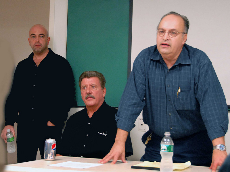 Business Agent Tony Fiumano, Vice President Joe Manley and Executive Vice President Angel Feliciano, pictured left to right.