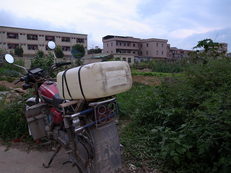 motorcycle with jerrycan