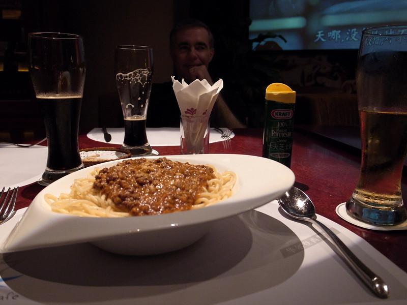 the ubiquitous spaghetti bolognese