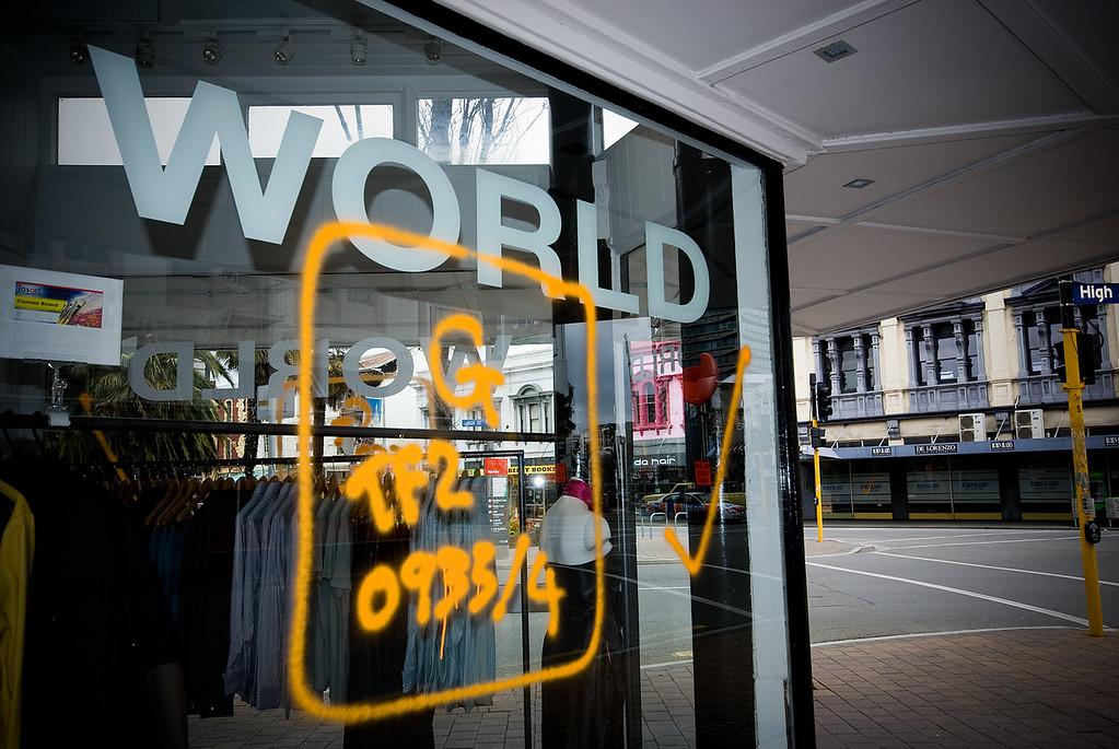 Council code on World store shopfront