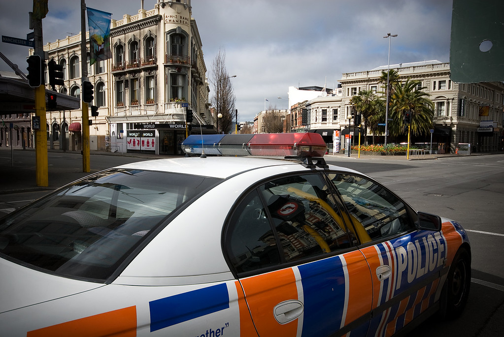 Police patrol in CBD