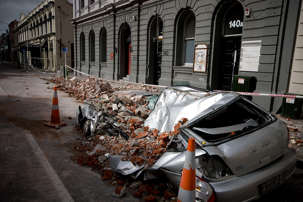 Crushed car, CBD