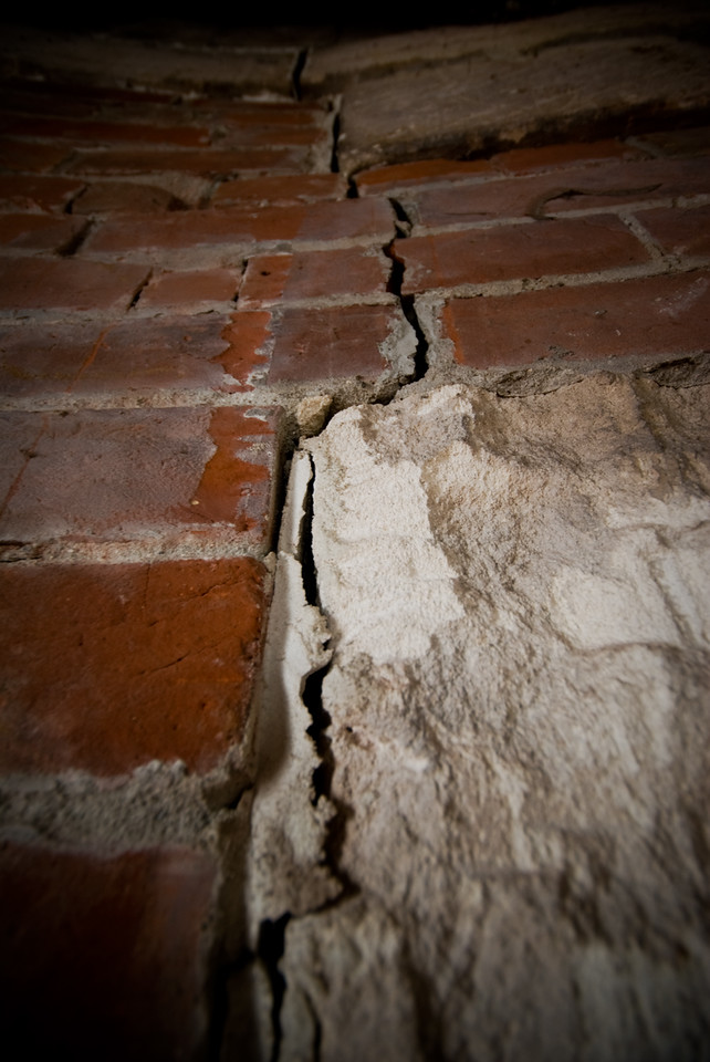 Crack inside CBD heritage building