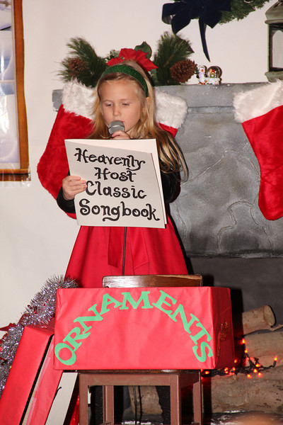 Jenna sings for the Christmas play at church