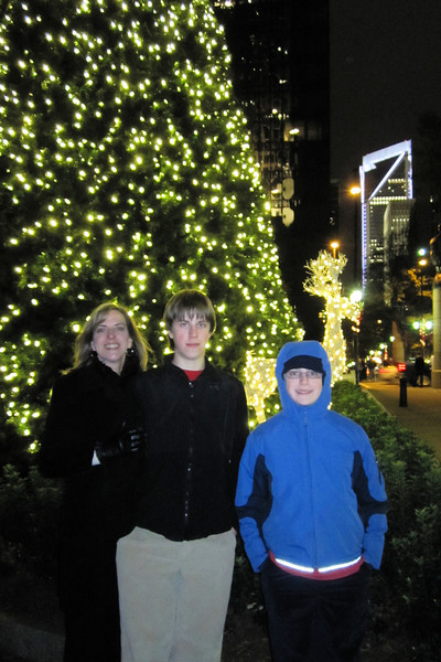 Christmas tree at Trade & Tryon, Uptown Charlotte