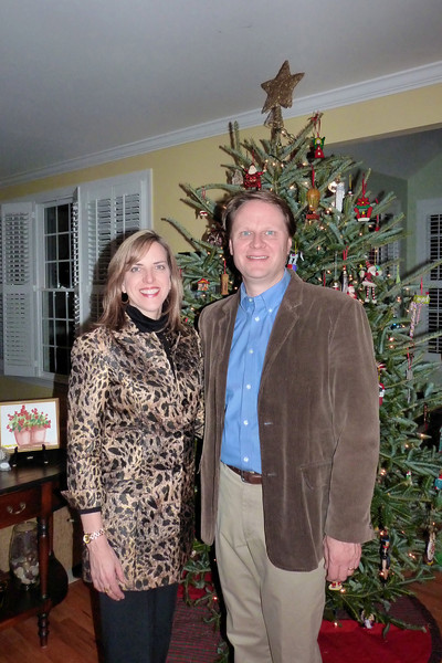 Scott & Elizabeth, before the Danser's annual Christmas party