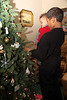 Romi shows Marshall the tree ornaments at Granny and Poppop's