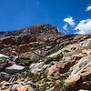 Clouds sweeping past Red Peak