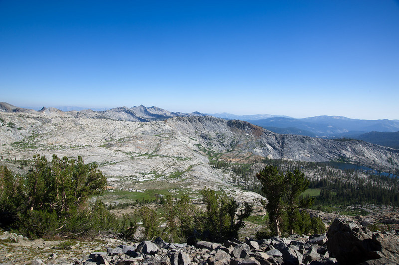 View south from Merced Peak's west ridge