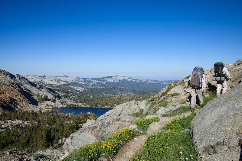 Following the trail up toward Upper Ottoway Lake