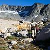 Leaving the shadow of Merced Peak