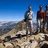 On top of a small summit on Red Peak's north ridge