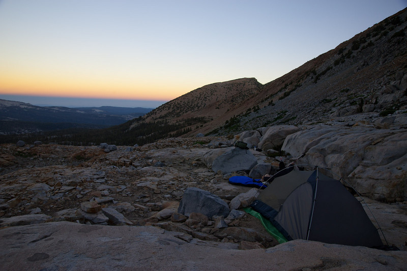 Dawn from camp