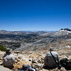 Lunchtime, looking southeast at Triple Divide Peak, toward the Minarets