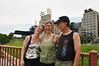 Chris, Liz, and John on the stone arch bridge