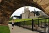Under the Stone Arch Bridge.  Guthrie theater in background.