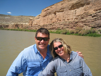 Sean and Susan on the Colorado River