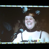 Anna at the mic