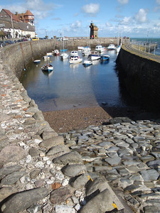 Then we proceeded to Lynmouth in Exmoor National Park on the south-west coast. This is the harbour at medium tide.