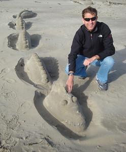 St Michael's Mount beach serpent