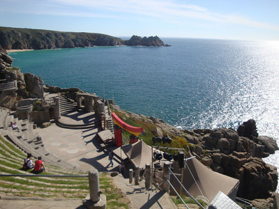 The next day we explored the vertiginous Minack Theatre, perched on the side of the cliffs not far from Land's End. Built by an eccentric English lady, this open air venue is hit by the full force of Atlantic storms, and is the ultimate setting for plays such as Shakespeare's Tempest!