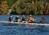 Boys 2nd varsity four on the water: Grant, Austin, Charlie, John, Jonah (cox)