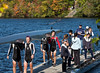 Boys varsity four coming off the dock: Turney and Isaac