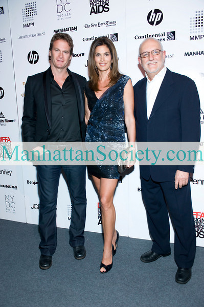 NEW YORK-MARCH 22:Rande Gerber, Cindy Crawford and David Sheppard, Executive Director of DIFFA attend DIFFA'S DINING BY DESIGN NEW YORK 2010: Gala Dinner Hosted By Cindy Crawford and Rande Gerber on Monday, March 22, 2010 at Pier 94, 12th Avenue at 55th Street, New York City, NY
