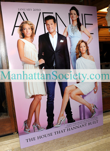 NEW YORK-JANUARY 12:  AVENUE Magazine Cover for January 2010 featuring Designer Douglas Hannant with designer Nicole Hanley,  entrepreneur Annie Churchill and  green activist Ulla Parker on display at Cocktail Party hosted by DOUGLAS HANNANT and AVENUE Magazine to Celebrate the New Decade on Tuesday, January 12, 2010 at The Terrace Room at The Plaza Hotel, Fifth Avenue at 59th Street,  New York City, NY (PHOTO CREDIT:  ©Manhattan Society.com 2010 by Christopher London)