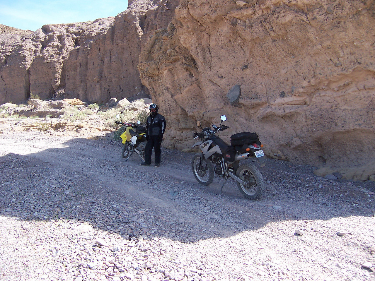 First thing the gang wanted to ride was Echo Canyon. So we followed along. Here is Paul in Echo Canyon.
