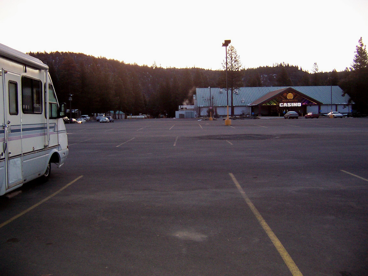 Day 1, Saturday, March 13th, we drove to the KLAMOYA Casino near Klamath Falls, OR. We put 2314 miles on the motor home during the entire journey.