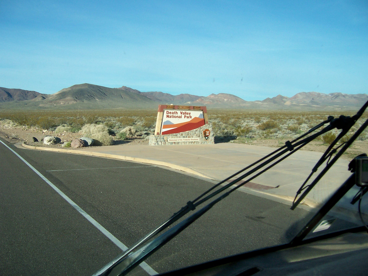 Day 3, Monday. Entering the Park from Beatty, NV