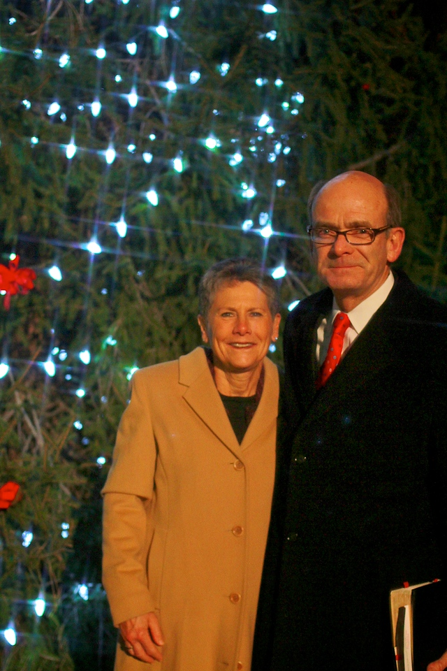 Festival of Lights Celebration; December 2010. Dr. Frank Bonner and Mrs. Flossie Bonner.