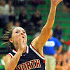 In the paint: Patriot guard Morgan Seely shoots for two agaisnt West Vigo.