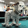 Foiled dog: Detail photo of tin foil dog created by a Chauncey-Rose student on display Thursday during judging.